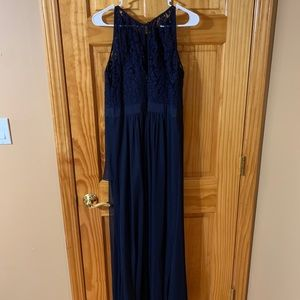 Adrianna Papell Navy Evening Gown